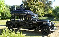 Transport: hearse funeral vehicle