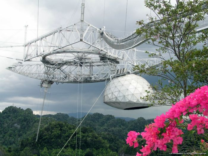 Arecibo Observatory radio telescope, National Astronomy and Ionosphere Center, Arecibo, Puerto Rico