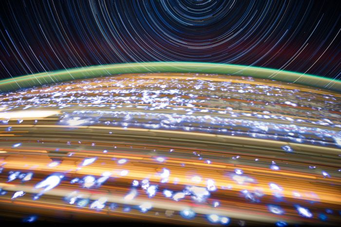 ISS star trail photography by Donald Roy Pettit