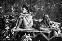 Black and white Life in Philippines by Justin James Wright