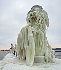 TopRq.com search results: Frozen lighthouse, St. Joseph North Pier, Lake Michigan, North America