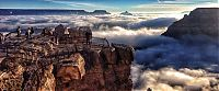 TopRq.com search results: Grand Canyon covered in fog, Arizona, United States