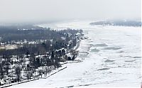 TopRq.com search results: The Great Lakes frozen, Canada–United States border, North America
